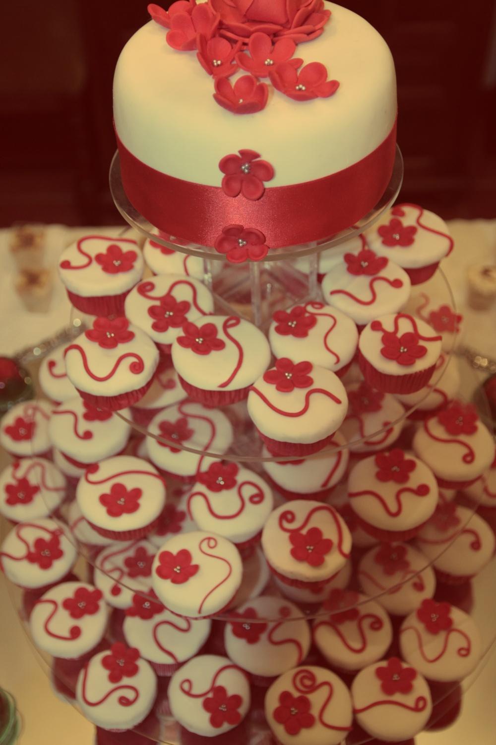 tarta boda cupcakes