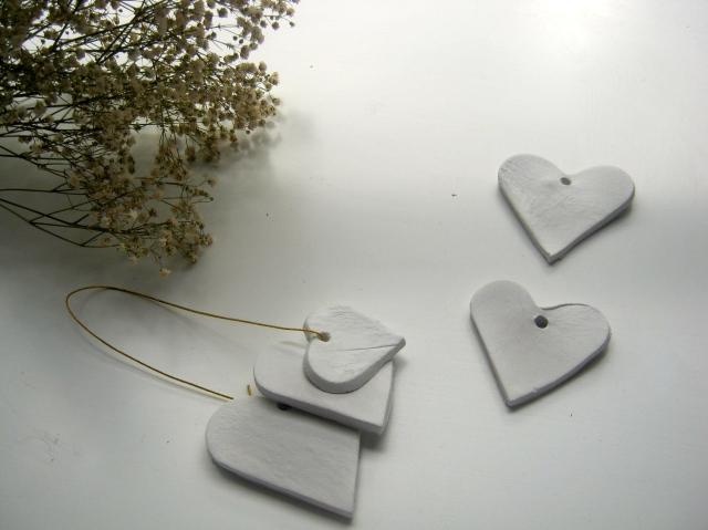 corazones de yeso