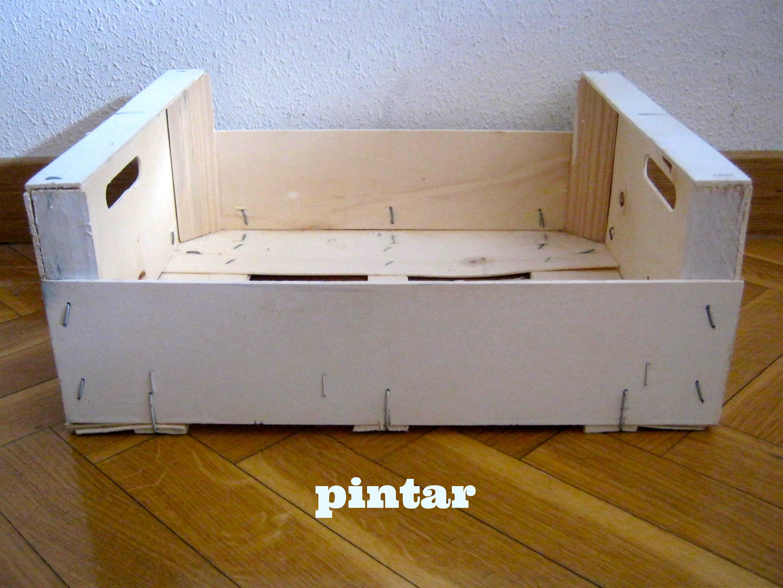 Recicla una caja de fruta for Mesa con cajas de fruta
