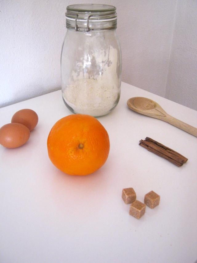 bizcocho naranja y canela