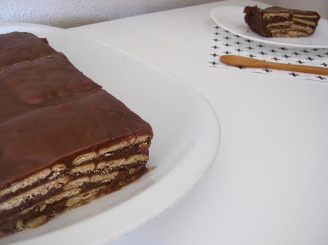tarta de chocolate y galletas maria
