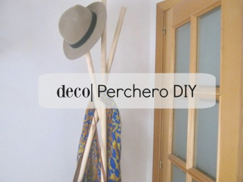 perchero diy