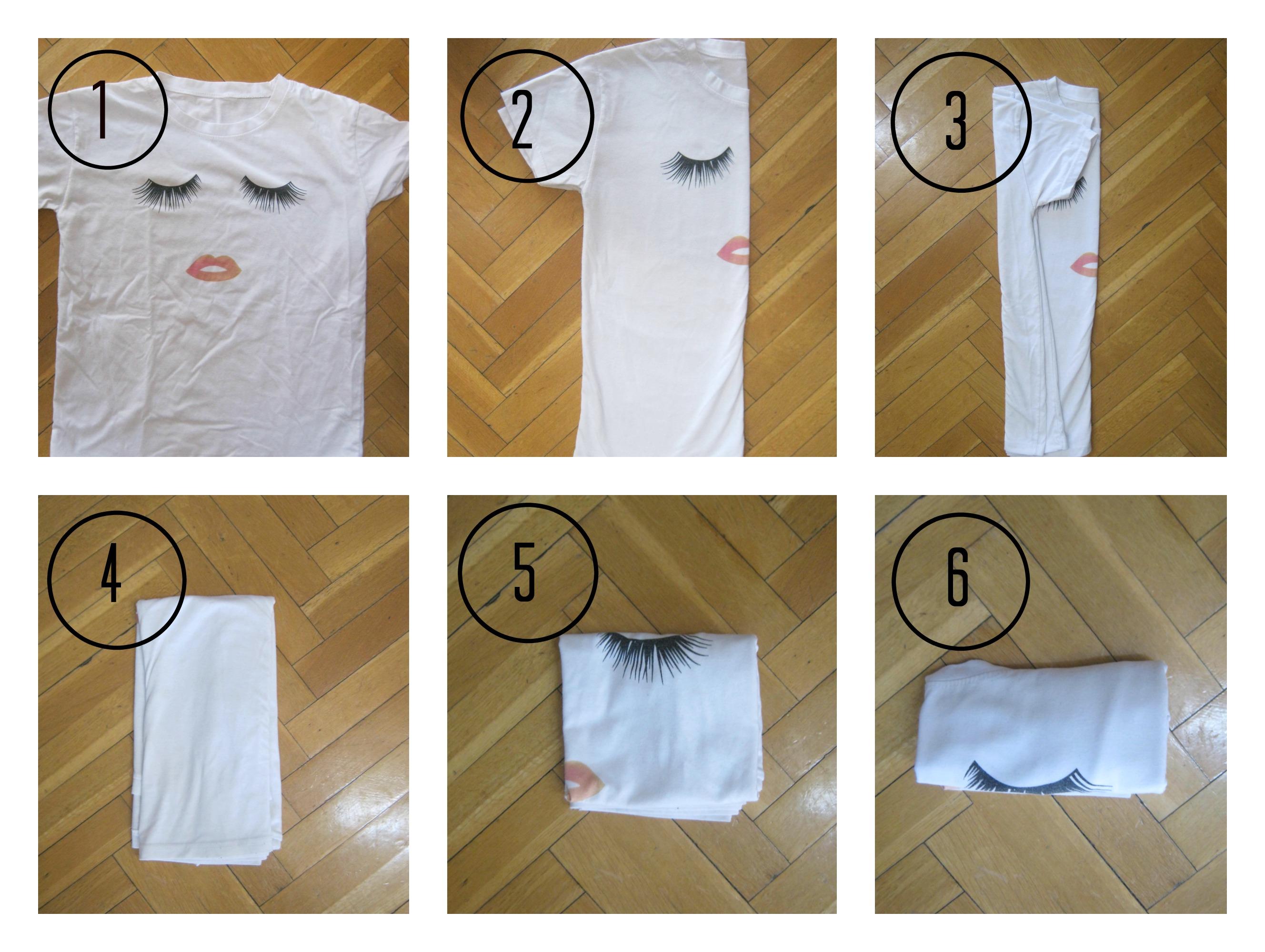 Doblar ropa en vertical interesting cmo organizar el - Tabla para doblar camisetas ...